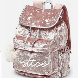 Pink Rose Gold Justice backpack rucksack